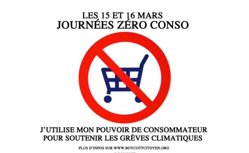 15 et 16 mars, journées zéro conso : appel au boycott citoyen pour la justice climatique etsociale