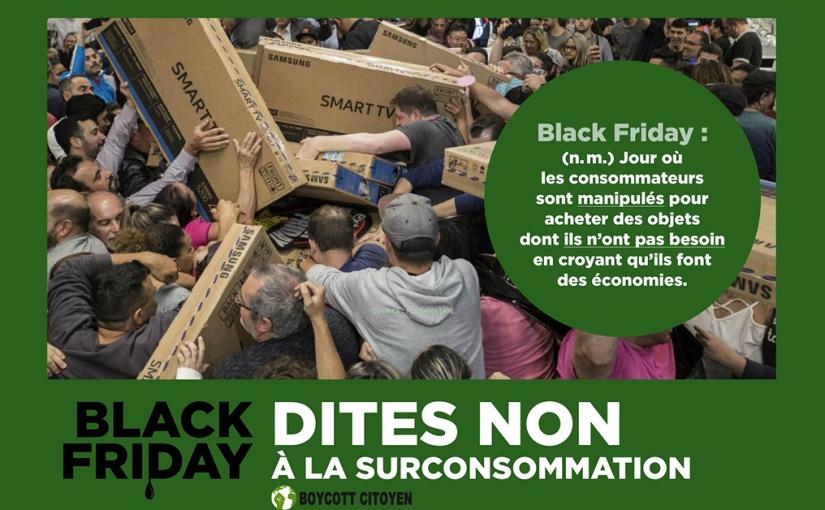 Campagne de décrédibilisation du Black Friday : top départ!